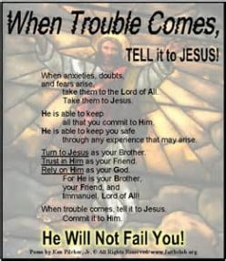 Tell Your Story to Jesus (Poem)