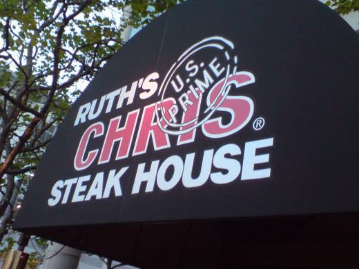 Ruth's Chris is an excellent choice of steakhouses for a Valentine's treat, if you both enjoy steak.