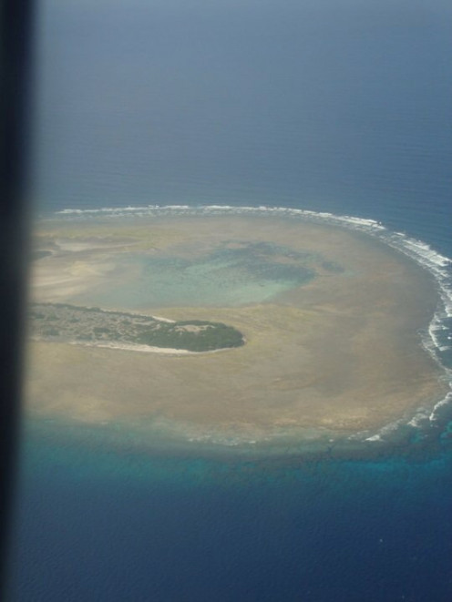 This is a picture of the island. Grace took the Photo from the plane before landing