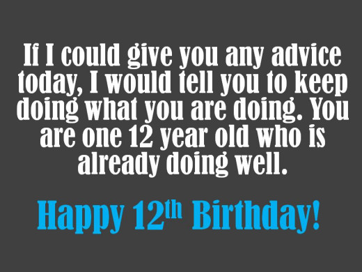 Funny birthday message for someone turning 12
