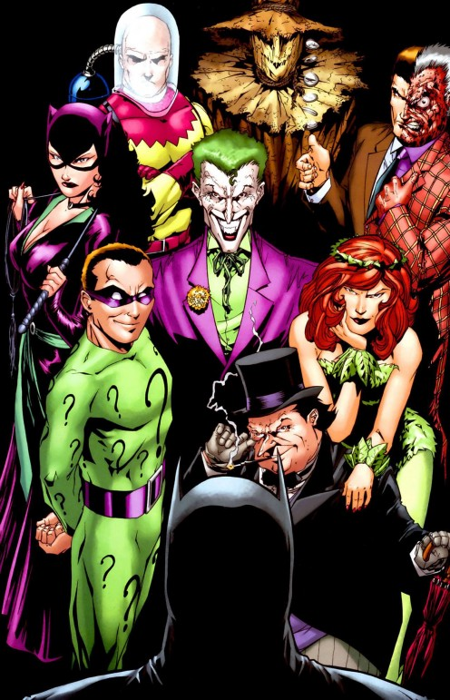 Batman has many enemies including Mr. Freeze, The Joker, The Riddler, Penguin, Two Face, Poison Ivy, Scarecrow and Cat Woman.