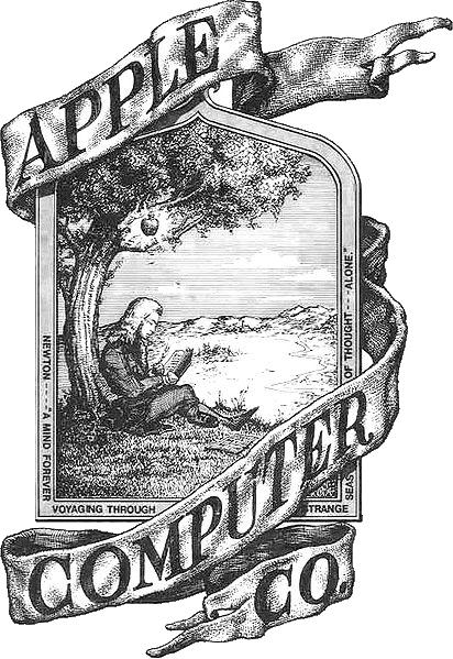 The original Apple logo.