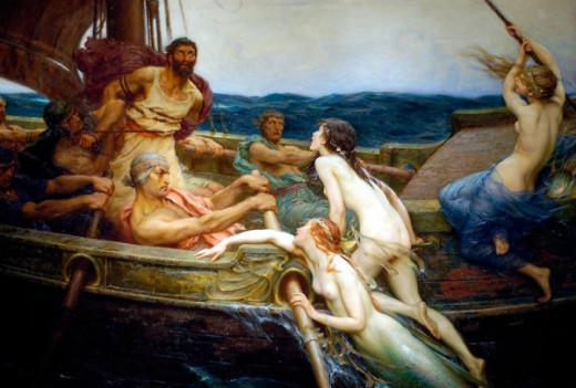 Ulysses and the Sirens by Herbert Draper