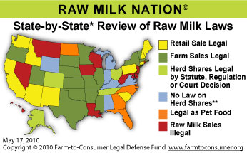 Want to know if raw milk is available in your state?  Find out here!