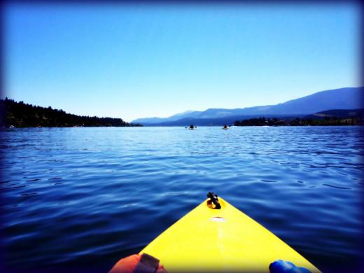 Kayaking on Vancouver Island