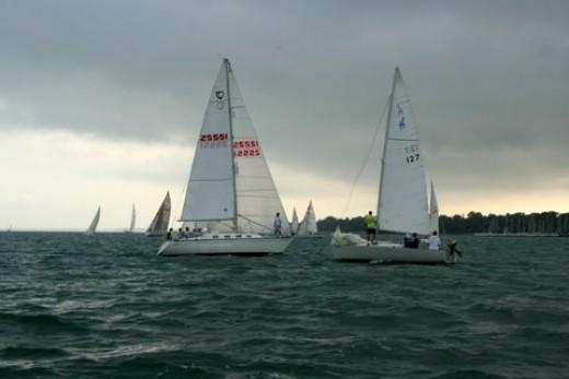 Grosse Pointe Farms Boat Club Race 8-9-07  deedsphotos