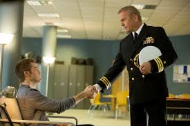 Jack Ryan (Chris Pine) formally meets Thomas Harper (Kevin Costner) while recuperating from injuries sustained in a helicopter crash