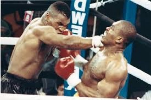 Iron Mike Tyson beat Donovan Razor Rudduck twice winning once by knockout and once by decision victory.