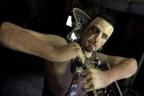 Saw 2 the video game is loosely based on the Saw films. It has freaky music and grotesque cut scenes. Clues are hidden throughout along with death traps. .