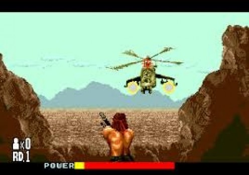 Rambo came out on the Nintendo and it was based on the Rambo movies starring Sylvester Stallone. The graphics were weak but the gameplay was pretty addicting at the time.