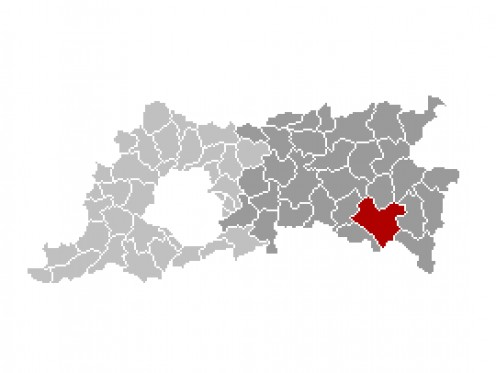 Map location of Tienen, Flemish Brabant province