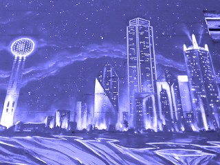 Mural of the Dallas Skyline