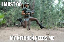 Shelly goes commando.
