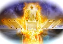 Dan 7:9 (Rev 1:12-18) I beheld till the thrones were cast down, and the Ancient of days did sit, whose garment was white as snow, and the hair of his head like the pure wool: his throne was like the fiery flame, and his wheels as burning fire.