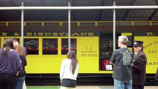 One of the original Disneyland Train Cars that was used from 1955 - 1970.