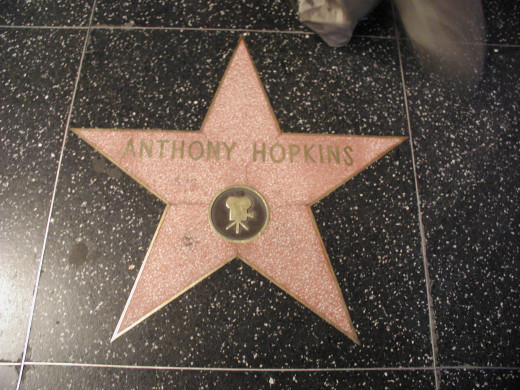 Anthony Hopkins star on the Hollywood Walk of Fame