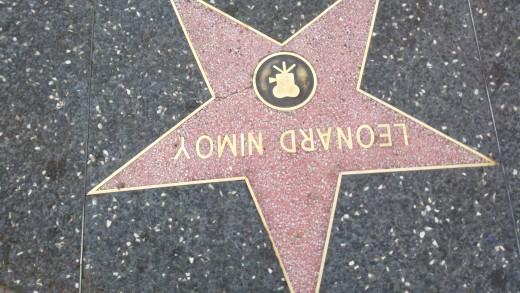 Leonard Nimoy's star on the Hollywood Walk of Fame.