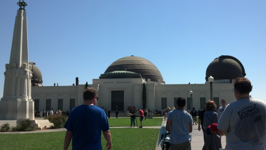 The main entrance to the Griffith Observatory.