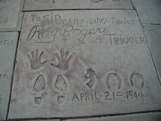 Roy Rogers and Trigger's hand and foot prints at the Grauman's Chinese Theatre