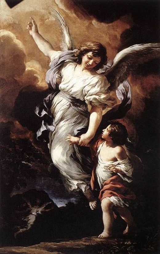 Guardian angel, by Pietro da Cortona, 1656