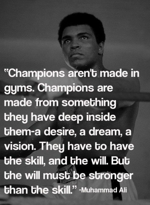 Muhammad Ali was a great boxer and he was highly quotable. He talked the talk and he walked the walk like nobody before or after him. This was just one of his many quotes.
