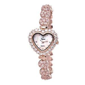 Ladies Luxury Swarovski Crystal Bracelet Wrist Watch Heart Dial Rose Gold-RCW07