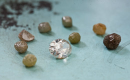 Rough stones are cut to become the brilliant jewels we know as diamonds.