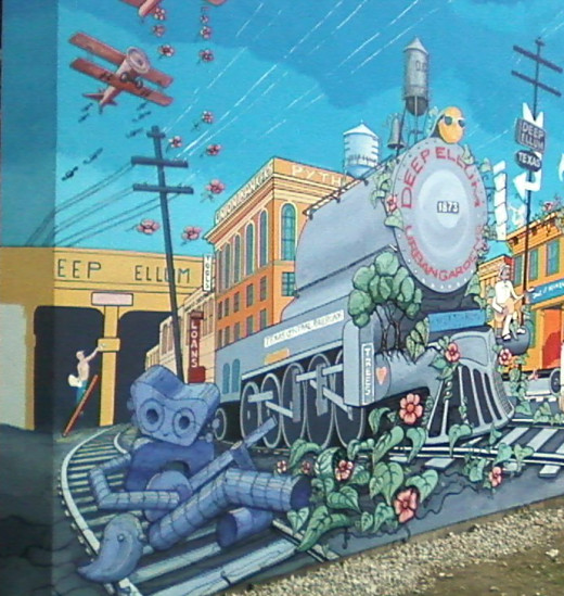 Deep Ellum Urban Garden Mural by Dan  Colcer