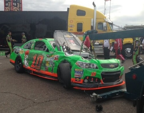 Danica ended several races on the wrecker last year