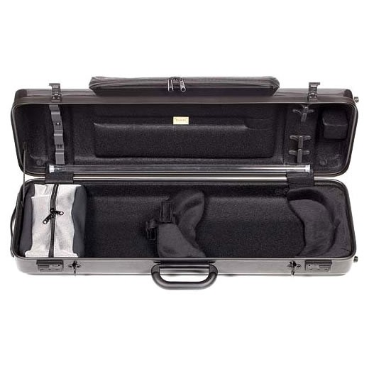 Excelling in exciting and innovative case design, Bam France makes lightweight, compact, foam-padded cases to suit your individual needs. The Bam Hightech 2112XL 4/4 Violin Case with Black Carbon-Look Exterior and Large Exterior Music Pocket offers t
