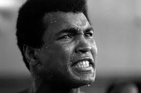 Cassius Clay AKA Muhammad Ali was a great boxer and he always had something to say. He was often hilarious with his witty humor before, during and after bouts.