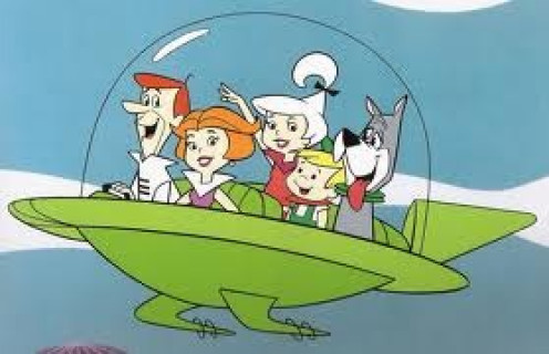 The Jetsons was a cartoon about the future. The main star was George Jetsons and his wife Jane. It showed a hilarious version of the future.