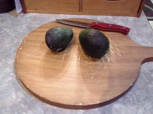 Step One: Choose two ripe avocados
