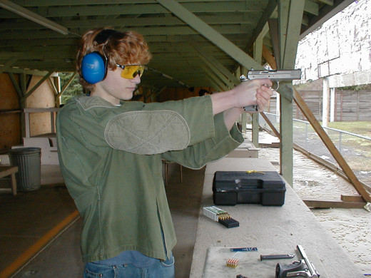 Daniel J. Palumbo practices with the TZ75, a 9x19mm auto.