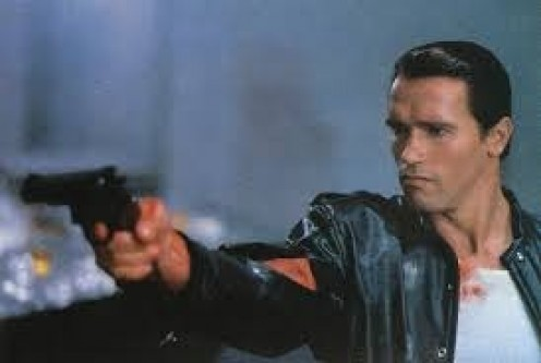 Arnold stars in Raw Deal with James Belushi. The movie has lots of action and adventure that takes place in Russia and America.