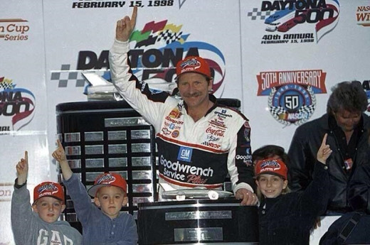 Austin Dillon (with Dale Sr. and brother Ty. in victory lane) has been a part of the Earnhardt racing family virtually since birth