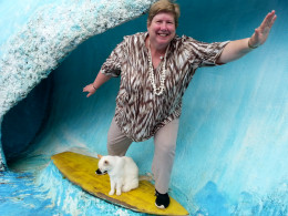 "Riding the wave with the big ""Cat""huna"