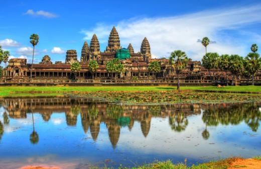 A Snapshot Of Angkor Wat.