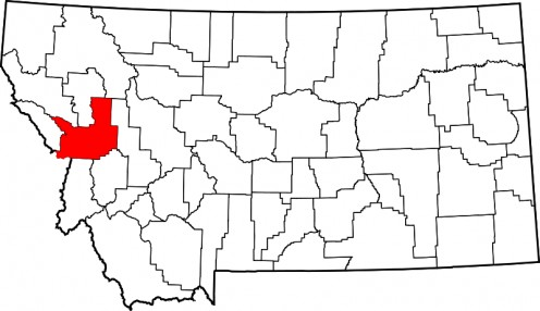 Location of Missoula, Montana.  Immediately west of Montana is the State of Idaho.