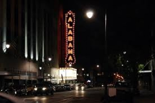 The Alabama Theatre hosts shows in the daytime and at night. They are very famous for hosting plays and musicals.