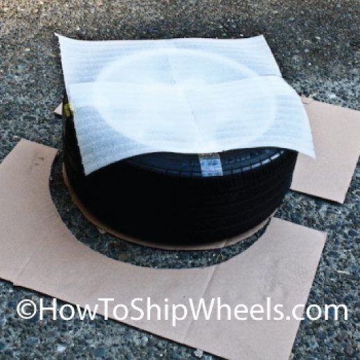 Tape the Dish Foam to the Wheel Face