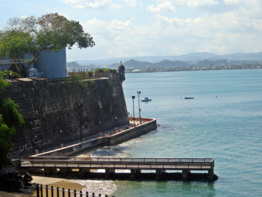 A view of San Juan's wall
