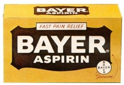 Vintage bayer aspirin packaging