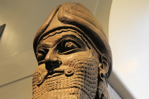 An Assyrian gateway statue