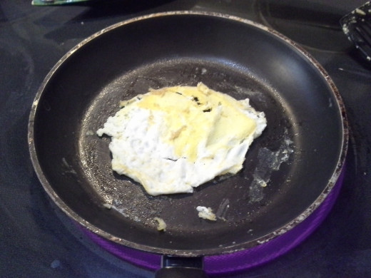 Step Twelve: When ready, flip your egg