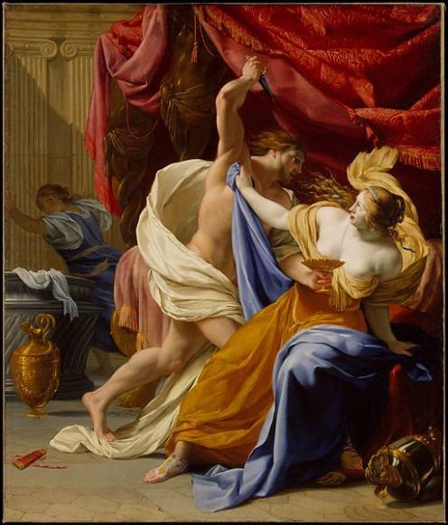 Depiction of the rape of Tamar