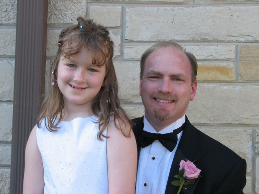 Get dressed up for a father and daughter date on Valentine's Day. Make your daughter feel special!