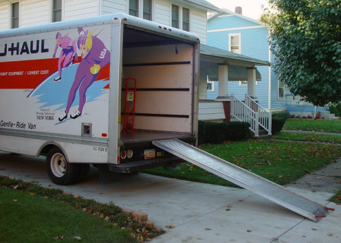 Anything that is non essential can be boxed up and later transported to your new place by the moving company.