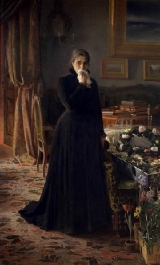 """Inconsolable Grief"" by Крамской Иван Николаевич"