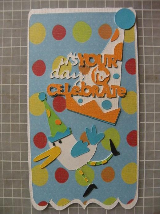 Cricut Machine crafted Birthday Card